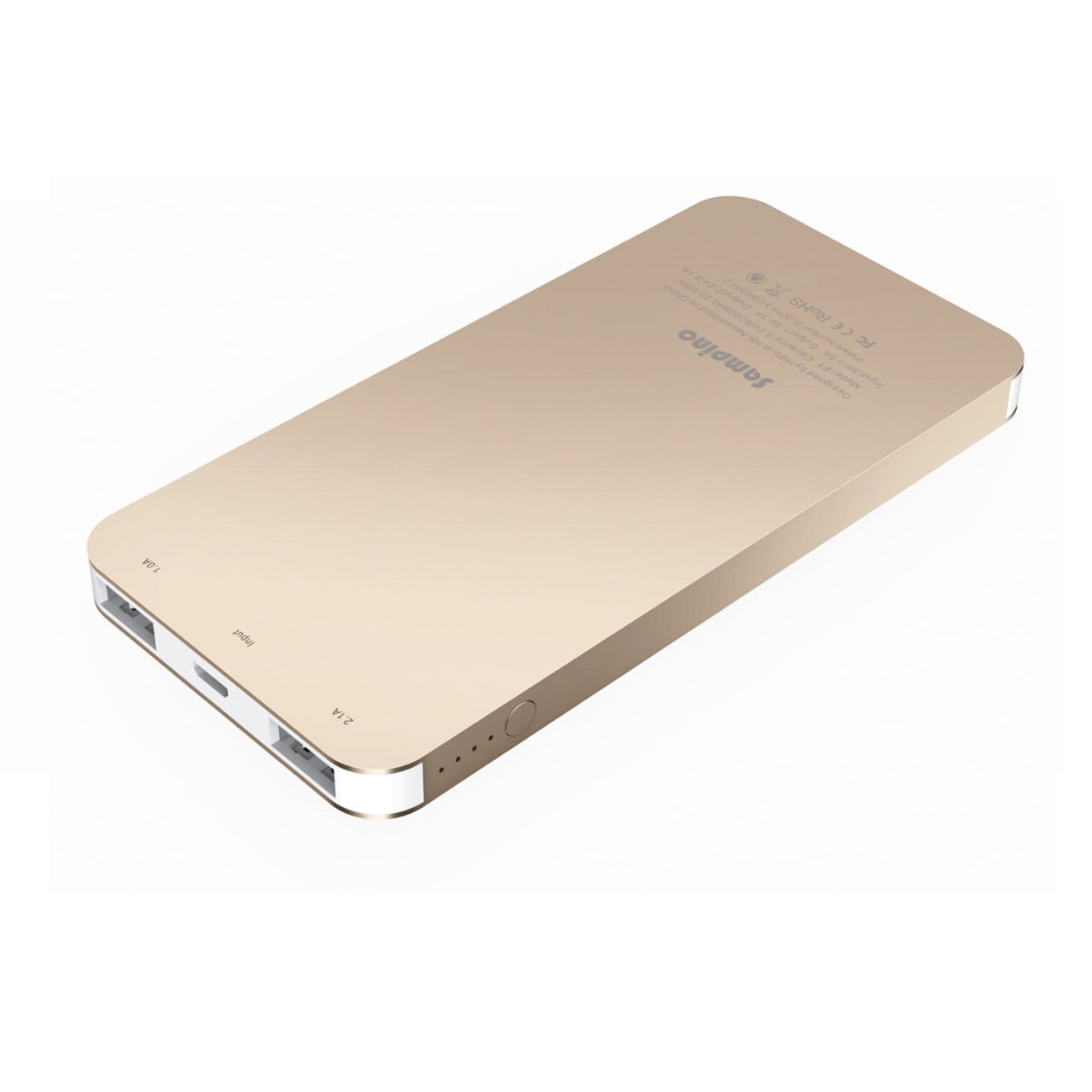 Sampino 6200 mAh Phone Charger Battery for iPhone or Android Pokeman,1.0/2.1A Output External Battery Power Bank Dual USB Ports for iPhone iPad Samsung Blackberry Microsoft HTC Portble DVD (Gold)