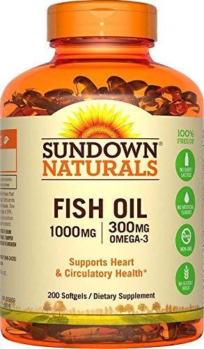 (Sundown Naturals® Fish Oil 1000 mg, 200 Softgels)