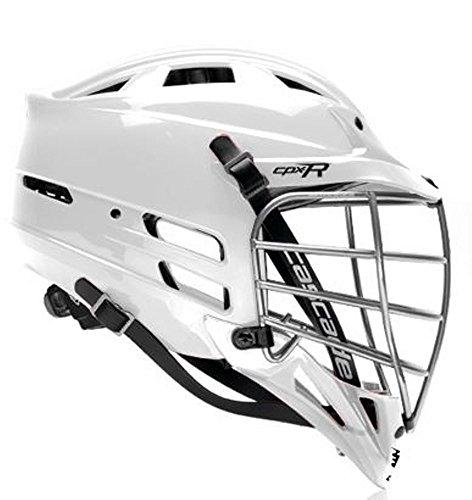 Cascade 'CPX-R' Lacrosse helmet - All White, Chrome Facemask