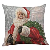 "Becoler Christmas Pillow Case Covers Decorative 18""x18"" (M)"