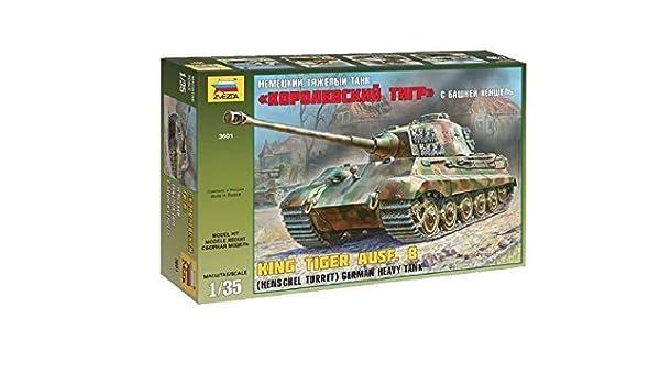 German Heavy Tank King Tiger Ausf.B Henschel Turret   Zvezda 3601 1:35 New!