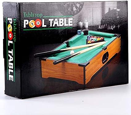 Zgifts Mini Mesa Pool set-15 Bolas de Billar portátil Juego Billar Mesa de Juegos de Juguete Hombres Mujeres para niños Adultos Fiesta en casa, Caja Negra: Amazon.es: Deportes y aire libre