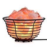 SMAGREHO Natural Himalayan Salt Lamp Basket and Salt Crystals, Have UL Listed Dimmer Switch(Bowl)