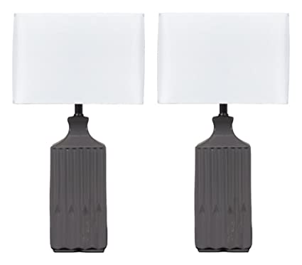 Gray Table Lamps Enchanting Ashley Furniture Signature Design Patience Glazed Ceramic Table