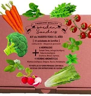 Kit Huerto Urbano Todo el Año - 10 tipos de Semillas (6 Hortalizas + 4