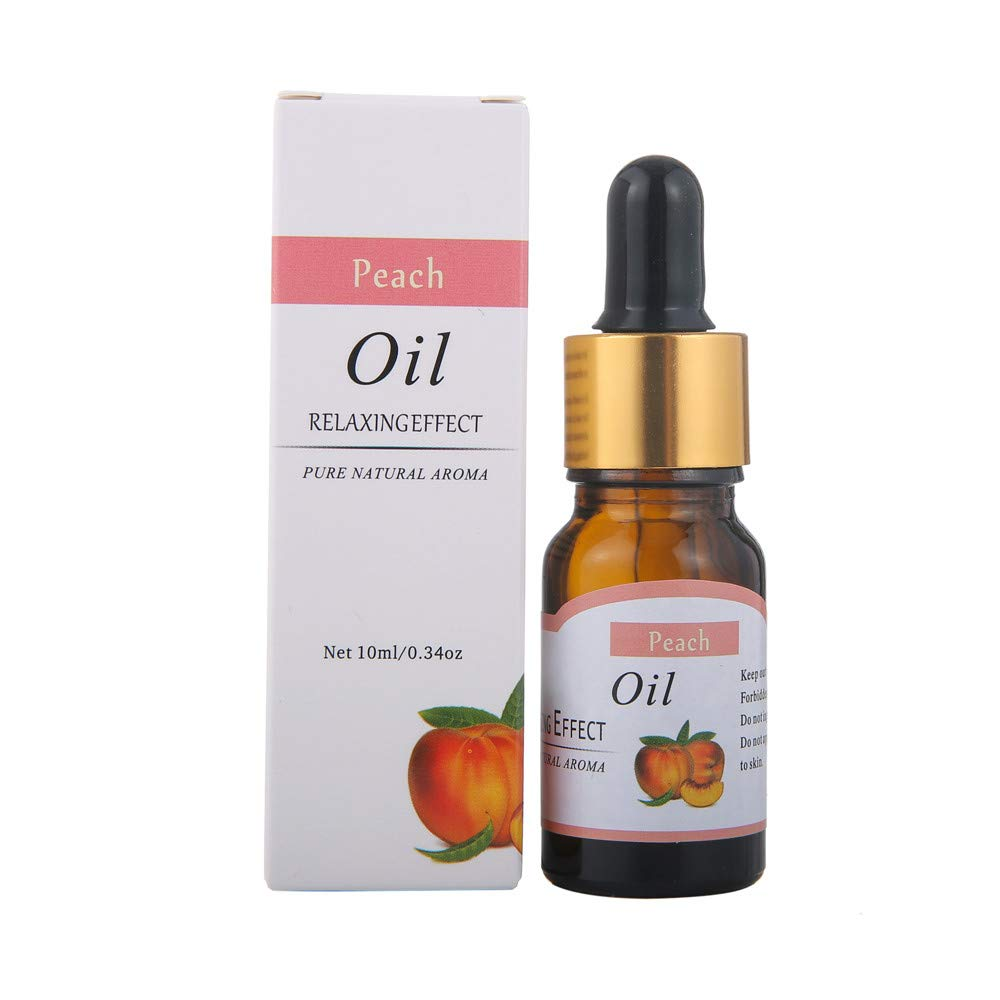 Elevin(TM) Essential Oils Pure Natural Aromatherapy Oils Choose Fragrance Aroma Flower (L-Peach)