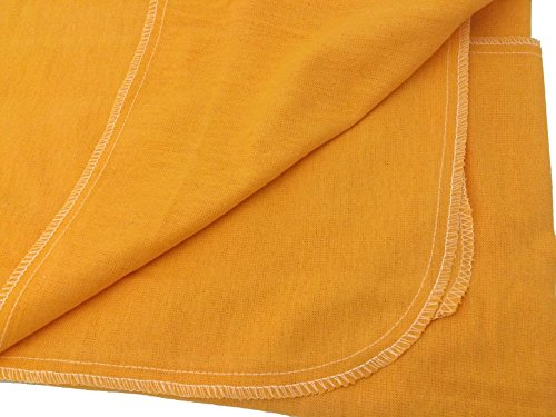 Auto Fender Cover and Seat Protector, Orange 4-Pieces, Eco-friendly 100% Soft Natural Cotton, protects auto surfaces, car interiors, seats, ideal for mechanic shop, garages, body shops, DIY projects