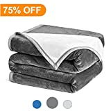 #10: Cozylife Flannel Fleece Luxury Blanket Super Soft Warm Double-sides Reversible Fuzzy Bed Blanket Anti-static 460GSM(Queen,Dark Grey& Ivory)