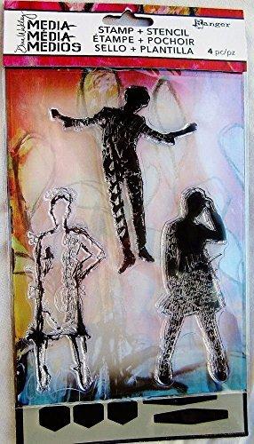 RANGER Stamp & Stencil - Essential Silhouettes by Dina Wakley