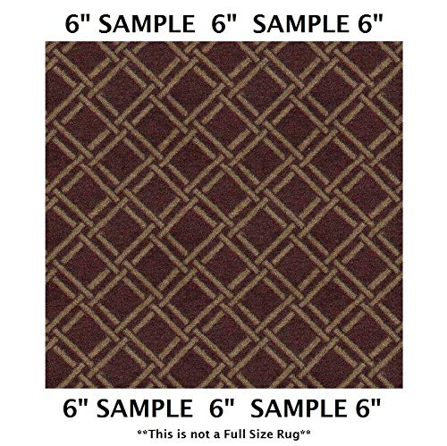 Koeckritz Rugs Sample Swatch - Crimson, CORITA Bamboo Pattern | Designers Dream Collection, Stainmaster Nylon ()