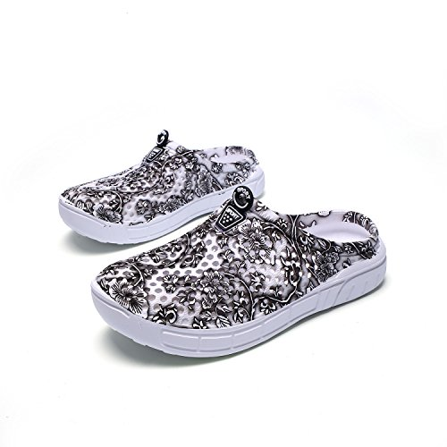 Water Garden Breathable WLLH Slip Shoes Walking Shoes Anti Women Footwear Dark Mesh Grey Summer Beach Clog Slippers Sandals Shower qgHYg1xPn