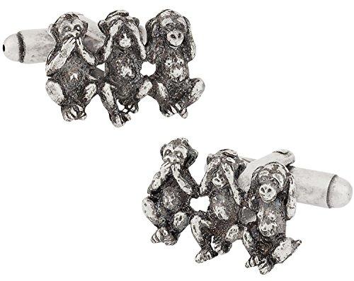 Cuff-Daddy Three Monkey Cufflinks with Presentation Box
