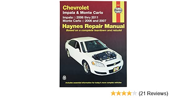amazon com chevrolet impala 2006 2011 and monte carlo 2006 2007 rh amazon com 2011 chevrolet impala lt manual chevy impala 2011 owners manual