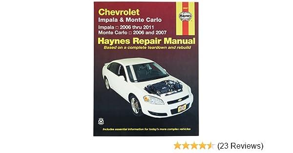 amazon com chevrolet impala 2006 2011 and monte carlo 2006 2007 rh amazon com 2006 chevy impala shop manual 2006 chevy impala ss repair manual