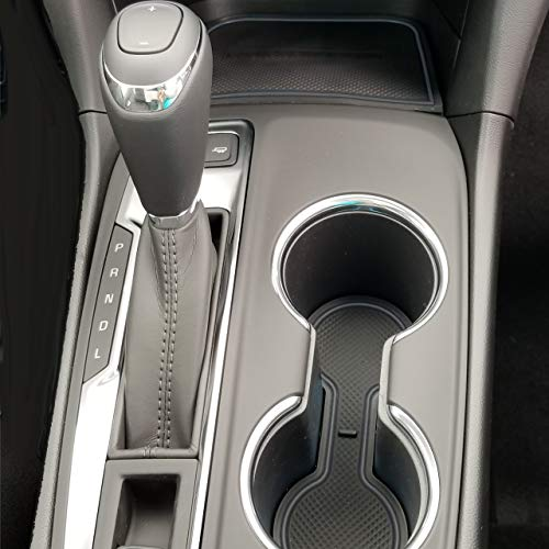 CupHolderHero for Chevy Equinox 2018-2020 Custom Fit Cup Holder, Door, and Center Console Liner Accessories 12-pc Set (Solid Black)