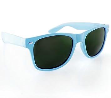 4cf97b43219 4sold Black Lens Sunglasses - Style Unisex Shades UV400 Protective Mens  Ladies (Light Blue)