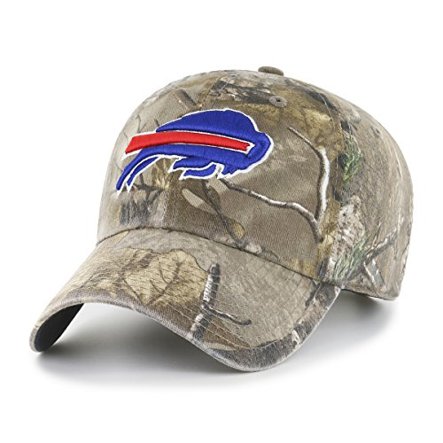 Camo Bill Cap (NFL Buffalo Bills Realtree OTS Challenger Adjustable Hat, Realtree Camo, One Size)