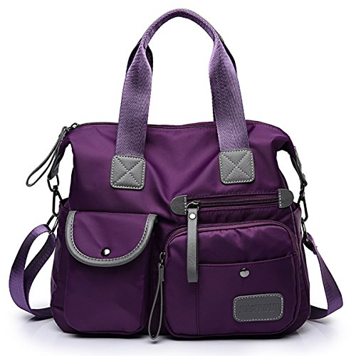 Messenger Office Folding Bag Multifunction Handbag Bag Fashion Bag Nylon Casual Ladies Purple Shopping for Shoulder Cross Bags Sling Daily Waterproof Bags Women's Life Tote Gracosy Body Large 0AqnzgZRwx