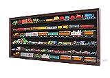 HO Scale Train Hot Wheels Display Case Rack Cabinet Wall Shadow Box w/UV Protection- Lockable