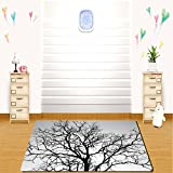 tinkerbell tree house - HAIXIA rugs Forest Home Decor Dead Old Branches Arms Limbs Sadness Symbol Tree of Life Offshoot Picture Grey Black