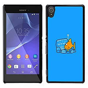 All Phone Most Case / Oferta Especial Duro Teléfono Inteligente PC Cáscara Funda Cubierta de proteccion Caso / Hard Case Sony Xperia T3 // Reading Fish