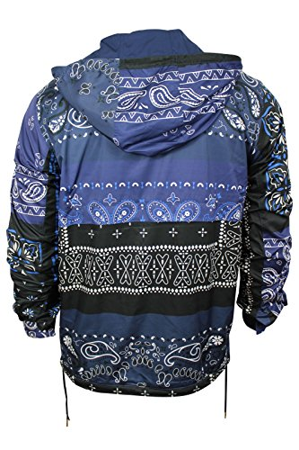 Adidas By Opening Ceremony Men's Blue Black Reversible Windbreaker, XL
