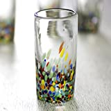 NOVICA Multicolor Hand Blown Recycled Glass Shot Glasses, 2 oz 'Carnival' (set of 6)