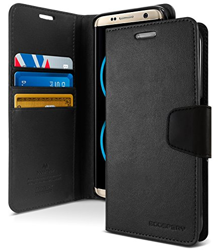 Galaxy S8+ [PLUS] Case, [Wallet Case] GOOSPERY Sonata Diary [Drop Protection] Soft PU Leather Case [Shockproof] TPU Casing [Card & Cash Holders] Flip Stand Cover for Samsung Galaxy S8 PLUS