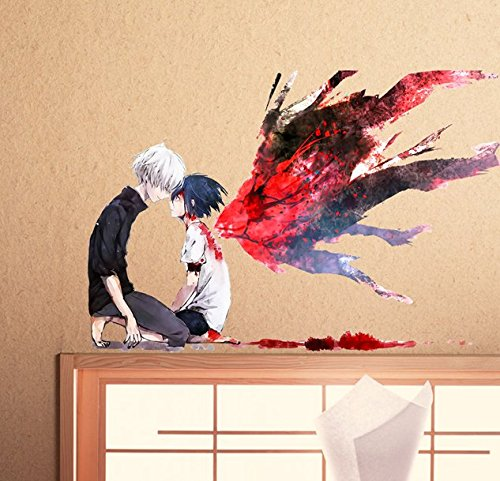 Colorful Cosplay Anime Tokyo Ghoul Wall Stickers Fridge Stickers