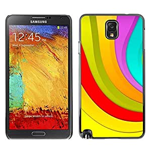 LECELL -- Funda protectora / Cubierta / Piel For Samsung Galaxy Note 3 N9000 N9002 N9005 -- Color Stripes --
