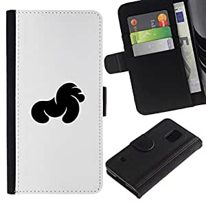 All Phone Most Case / Oferta Especial Cáscara Funda de cuero Monedero Cubierta de proteccion Caso / Wallet Case for Samsung Galaxy S5 V SM-G900 // Negro Especial
