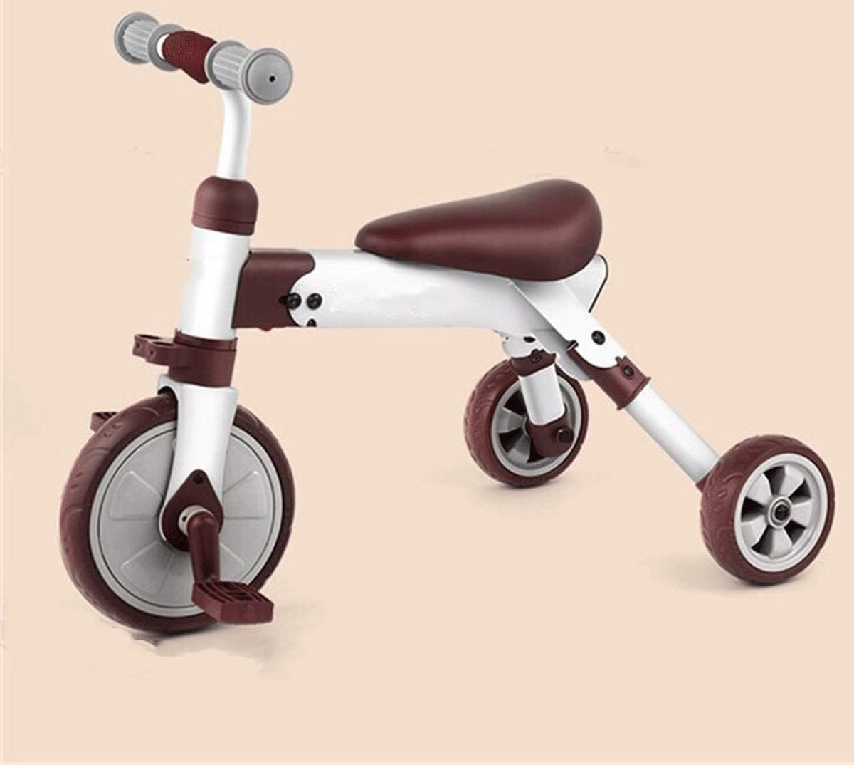 Baianju Folding Children's Tricycle Baby Children's Pedal Scooter Toy Bicycle Toy Yo Car