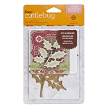 Cuttlebug 2002269 A2 Holly Sprig Cut and Emboss Dies for Artwork