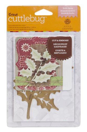 Cricut Cuttlebug Holly Sprig 3.75
