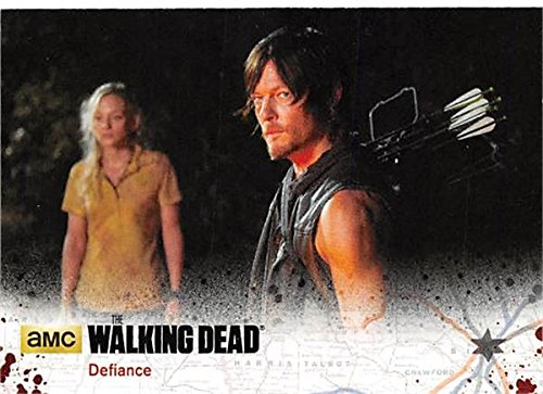 Daryl and Beth trading card Walking Dead 2016 #59109 Emily Kinney Norman Reedus from Autograph Warehouse