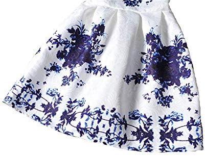 Grouptap Vestito Estivo da Ballo per Ragazze di Scuola Estiva per Fiori et/à 9-10 11-12 Anni Vestiti Floreali Fantasia Bianca per Bambini