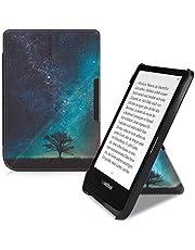 kwmobile hoes compatibel met Pocketbook Touch Lux 4/Lux 5/Touch HD 3/Color (2020) - Hoesje voor ereader in blauw/grijs/zwart