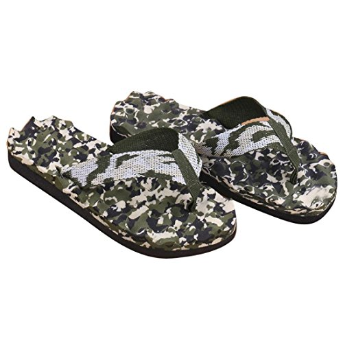 Sunfei ® Men Estivo Camuffamento Infradito Scarpe Sandali Pantofola Interna Ed Esterna Verde