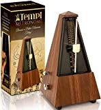Tempi Metronome for Musicians (Plastic Mahogany Grain Veneer) with 2 Year Warranty, E-Book, 2 Months Free Music Lessons
