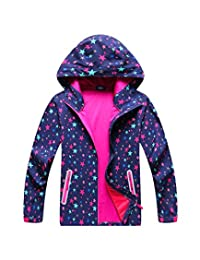M2C Boys & Girls Hooded Composite Mesh Lined Softshell Jackets