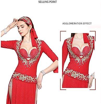 4576d8e51dfd Disfraz de Danza del Vientre Mujeres Sexy Belly Dance Bra Correa ...