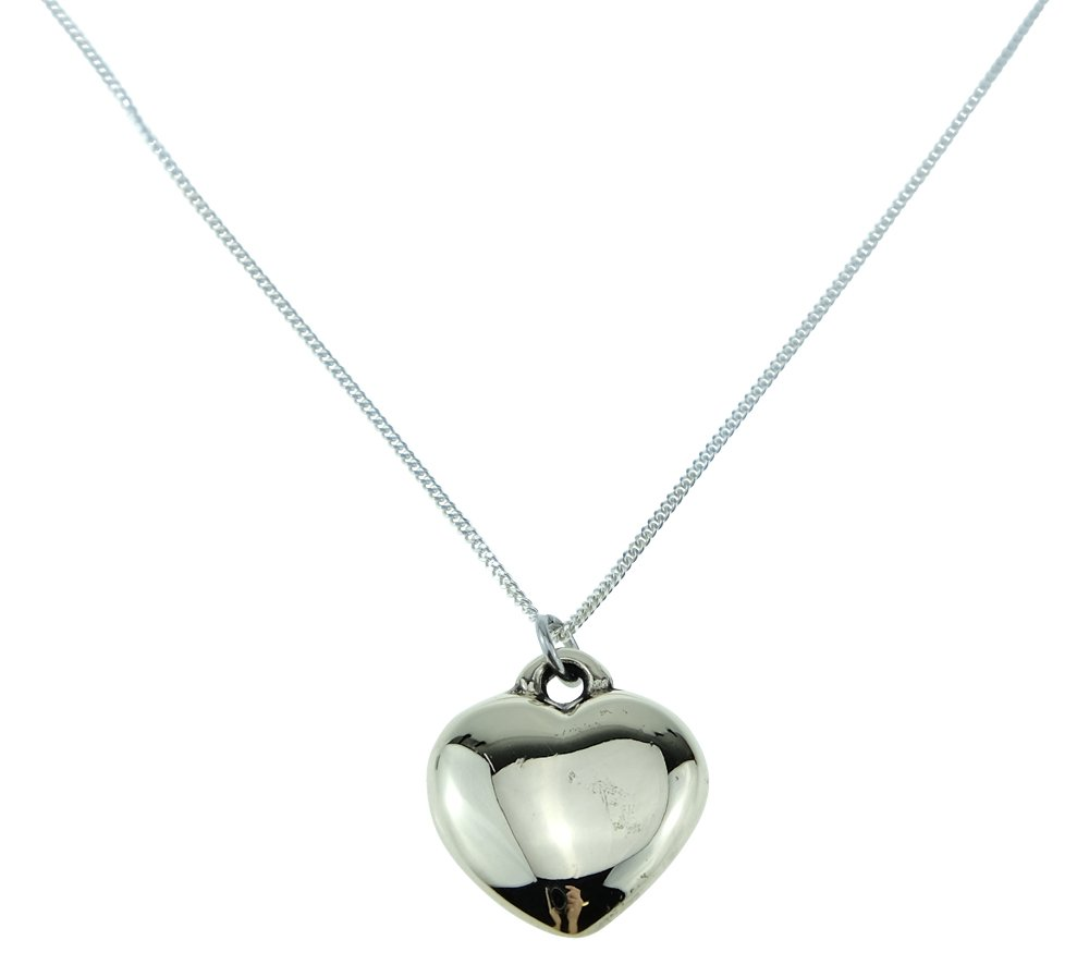8th Anniversary Solid Bronze Polished Heart Pendant - Perfect 8th Anniversary Gift Idea …