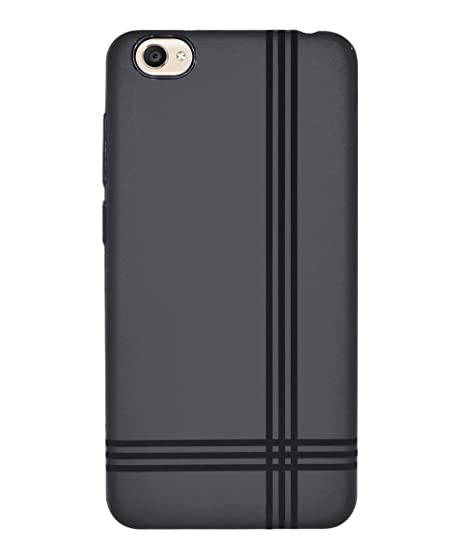best service 194f3 c475c COVERBLACK Back Cover for Vivo Y55L - 1610 - Black