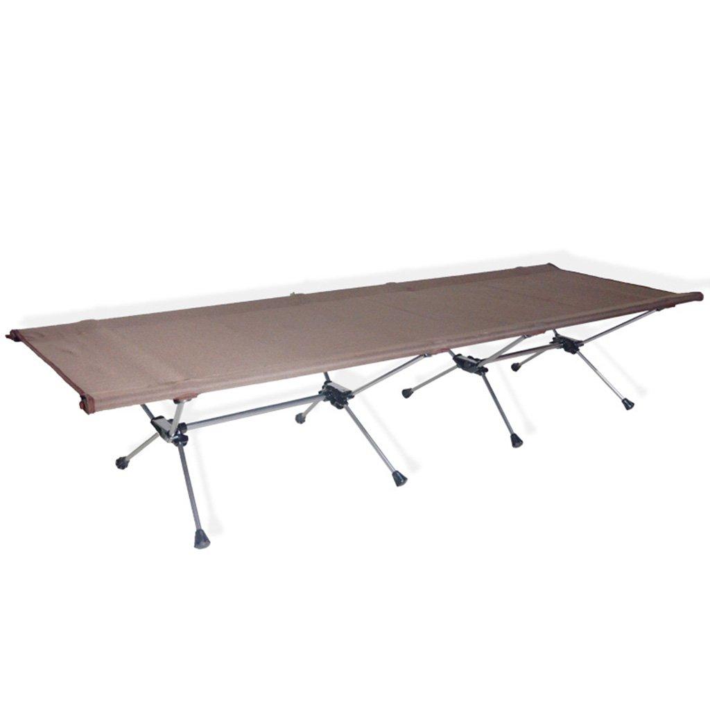 Chang Xiang Ya Shop Portable Klappbett Outdoor-Camping-Ausrüstung Aluminium-Legierung Camping Bett Büro Einzelbett