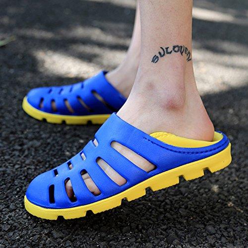 Xing Lin Sandalias De Hombre Nuevo Estilo De Verano Zapatos De Hombre Zapatos Agujero Playa La Mitad De Patinaje Zapatillas Sandalias De Ocio De Jóvenes Estudiantes blue