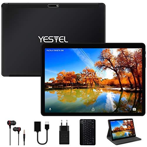 Yestel Tablet 10,1 inch Android 10.0 met 4 GB RAM 64 GB ROM-128G uitbreiding met Quad Core WI-FI Tablet Touchscreen…