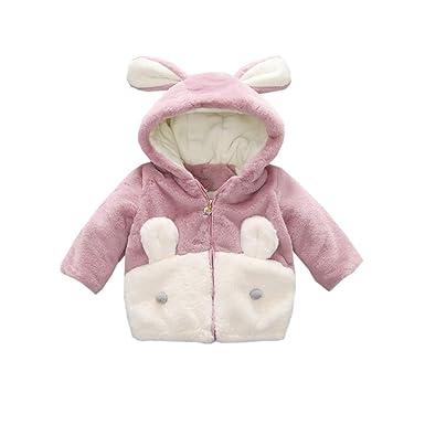 Fairy Baby Chaqueta de Inverno para Niñas Conejo Abrigo de Terciopelo: Amazon.es: Ropa y accesorios