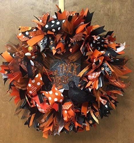 Halloween Trick or Treat Wreath. Halloween Door Decoration with lots of Sparkle. Super Cute & Whimsical. for $<!--$65.00-->