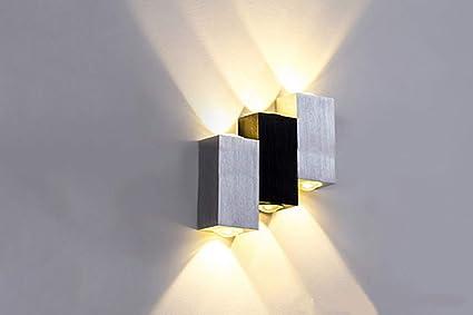 Worled Negro 6w Aluminio De Color Moderno Pared Lámparaaplique Led XnNO80Pwk