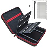 6amLifestyle Carrying Case Compatible for Nintendo 2DS Cover Bags with 18 Game Card & Stylus Storage Holders, Black